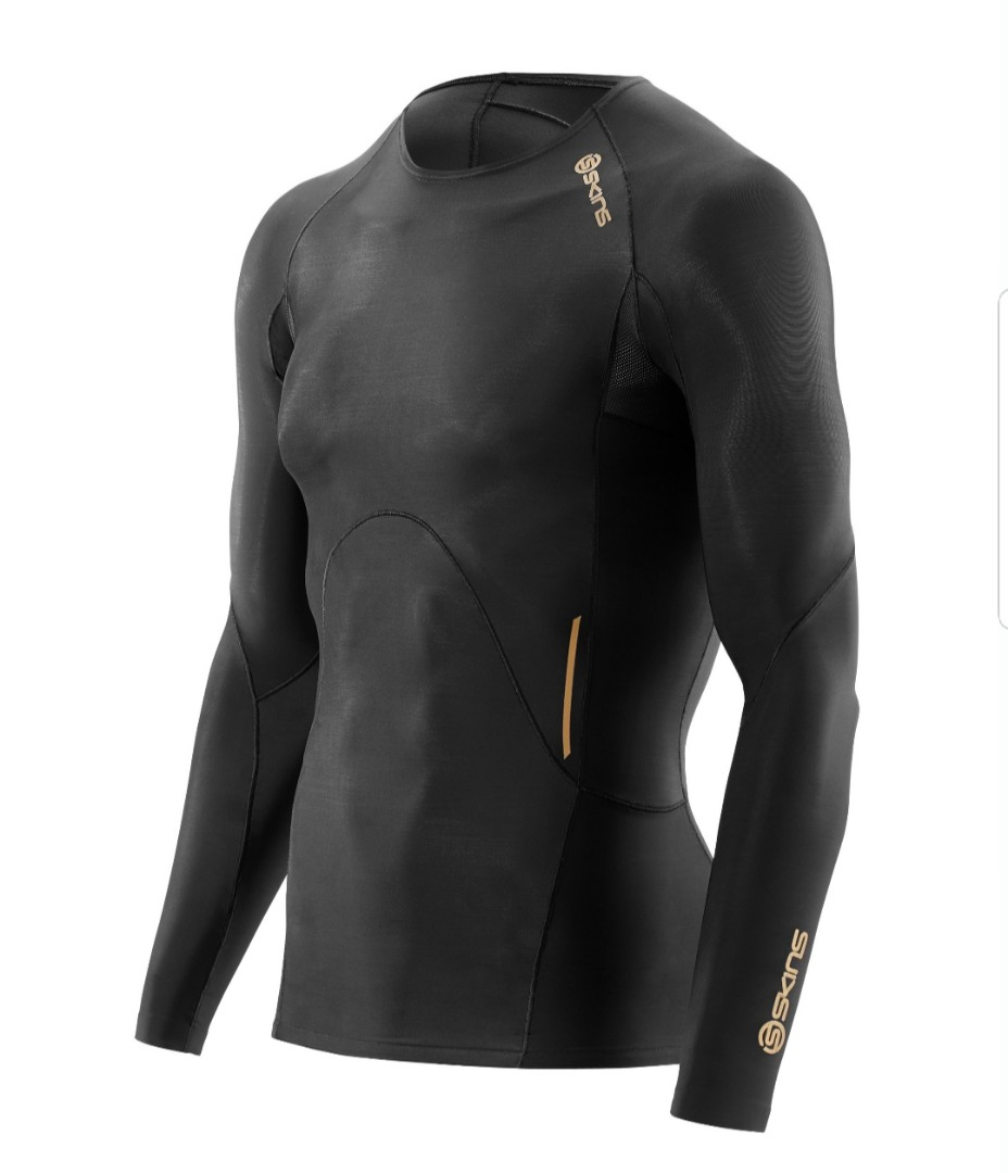 fac4e60419 Skins A400 Men's Active Long Sleeve Compression Top, Sports, Sports ...