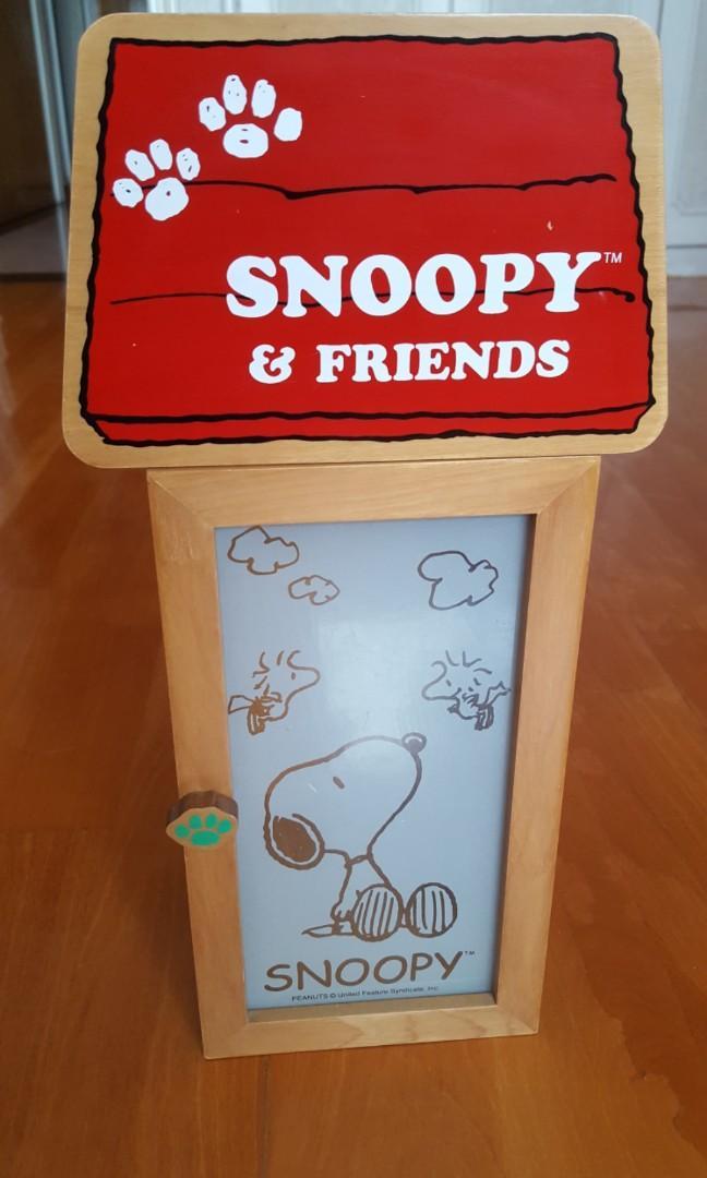 SNOOPY 特色原木CD及首飾盒