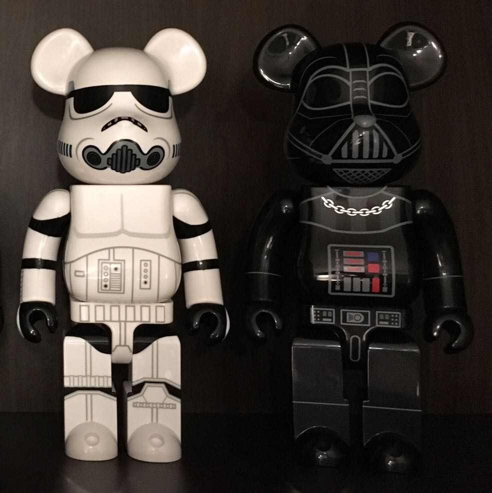 d36b88ff Star Wars Bearbrick 400% Stormtrooper Darth Vader, Toys & Games ...