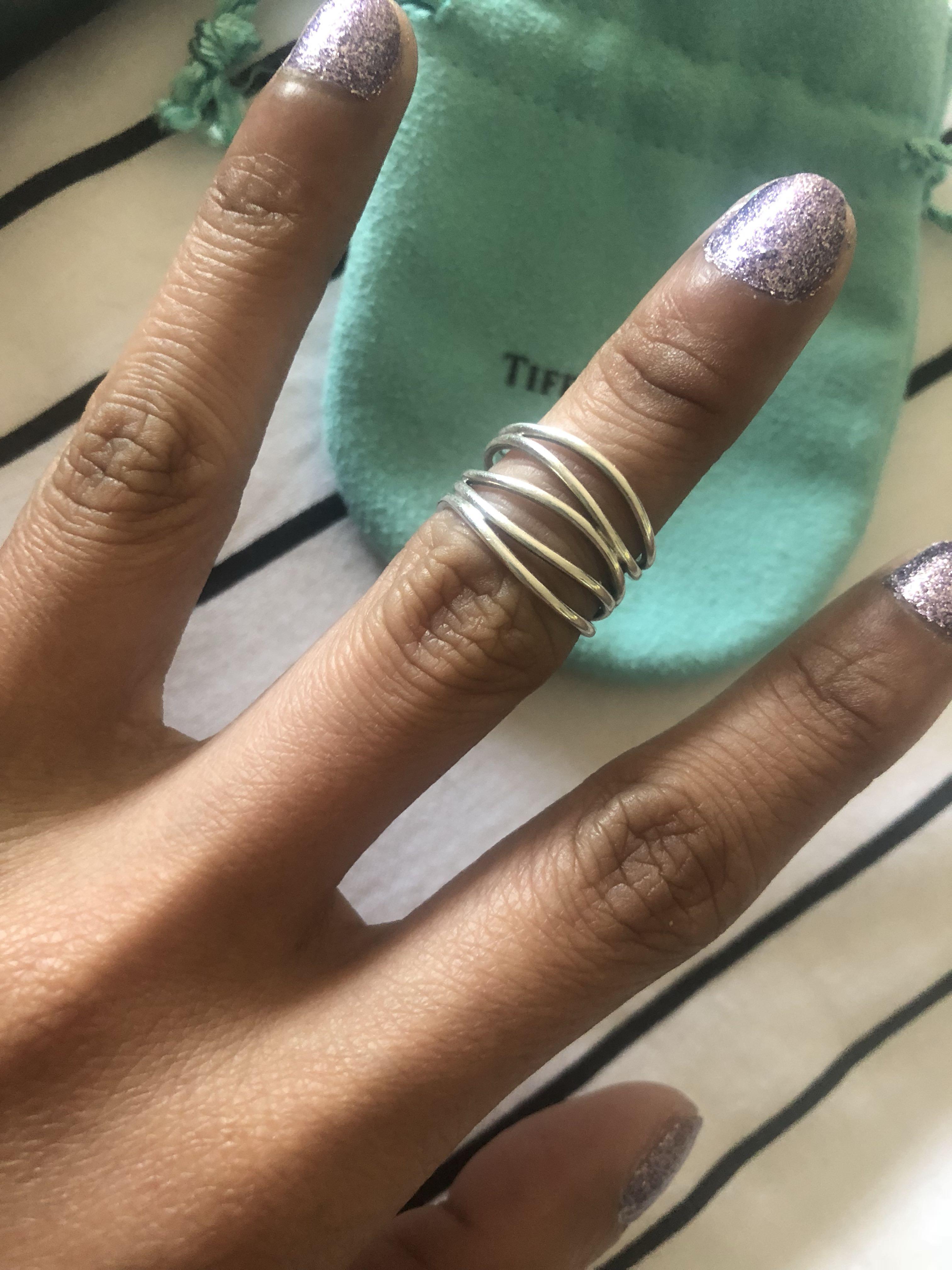 Tiffany & Co Elsa Peretti Wave 5-Row Ring size:4 US Rrp $745