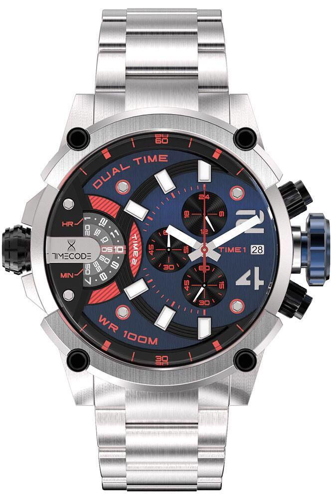Timecode Albert 1905 Watch - Mens Quartz Dual Time / Chronograph