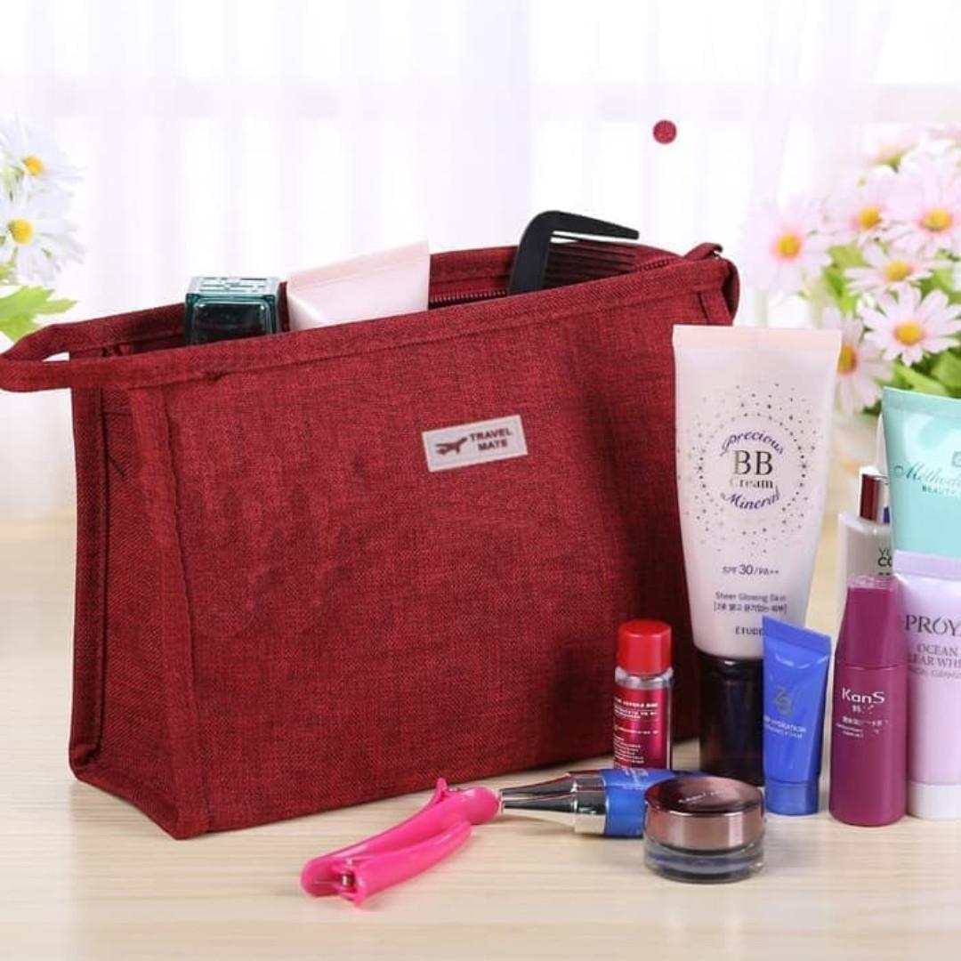 Travel mate Tas kosmetik toilet - dompet cosmetic pouch organizer F113, Olshop Fashion, Olshop