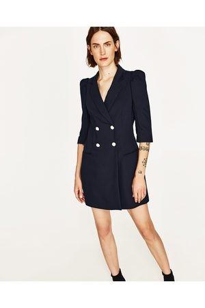2e2e0b7189ec1 Zara blazer dress with pearl buttons (navy in size s), Women's ...
