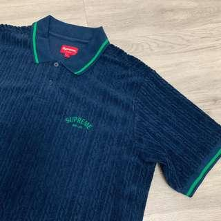 Supreme cable knit terry polo