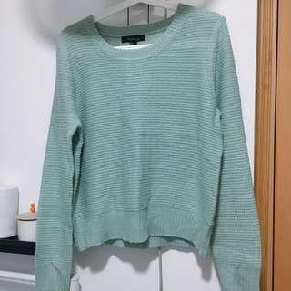 forever21 mint green sweater 上衣 毛衣