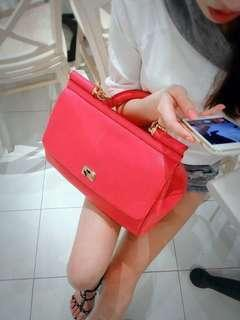 Dolce&Gabbana 絕美桃紅 粉色 手提肩背掀蓋包