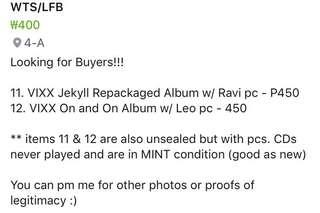 VIXX ALBUMS FOR 450 ONLY