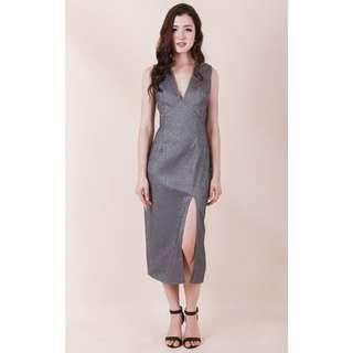 BNIB Ohvola Tia Textured Slit Dress