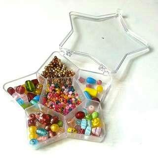 Assorted Beads + Star Container