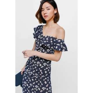 [PENDING] Love Bonito Yulyn Floral Off Shoulder Midi Dress