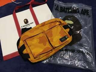 BN Bathing Ape X Headporter Color Camo Waist Bag Bape