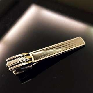 Montblanc tie clip stainless steel with black and white design 102989