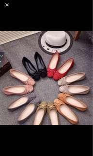 紅色/淺灰色平底鞋  可議價