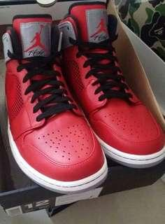 599873-602 Nike AIR JORDAN AJ 1 RETRO '89 FIRE RED/BLK-CEM GREY TORO MEN'S SIZE US 12 全新行貨有單 外盒殘