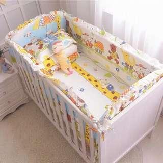 嬰兒床件長頸鹿🦒套組床組 床包 圍護 圍欄 嬰兒床 遊戲床 搖搖床 遙遙椅