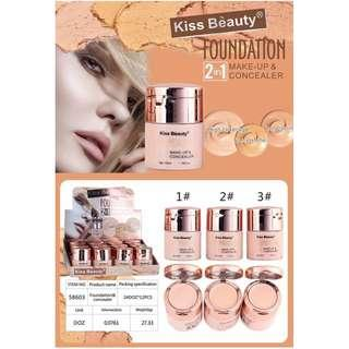 Kiss beauty foundation & concealer 2n1