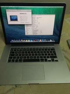 MacBook Pro 15,i7,16gb ,500gb mid 2014