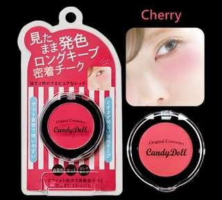 11.11 $6.95 SALE!! 🍒Candy Doll Japan Candy Long Keep Powder Cheek Blush Color Cherry Red [Matte Finish]