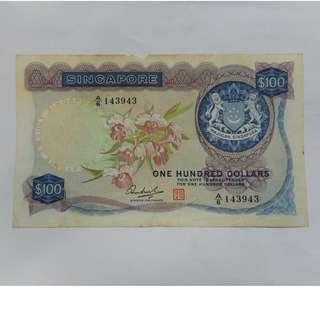 singapore $100 orchid series note