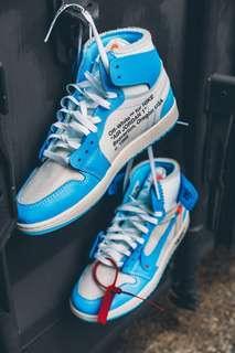 Nike off white UNC