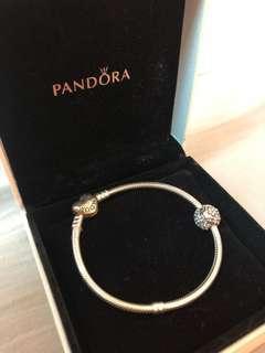 🚚 PANDORA銀鍊附一花朵串環