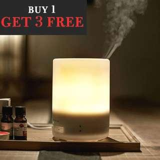 BUY 1 GET 3 FREE PROMOTION! Muji Style 300ml Large Capacity Aroma Diffuser & Humidifier. Free 3 bottle Essential Oil. 7 LED Lights, 8hrs Continuous Diffusion. FIRST 30SETS ONLY! FREE DELIVERY!