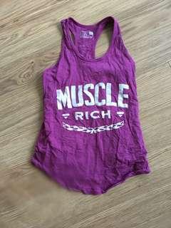Muscle Rich Tank-EUC-Size Small