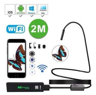 Wireless Endoscope, WiFi Borescope Inspection 8 LED Light Snake Camera HD