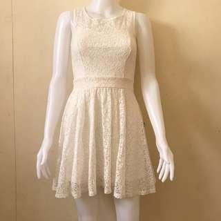 White dress, lace dress