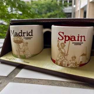 🚚 馬德里 西班牙 星巴克 3oz 城市杯 當地帶回