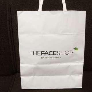 The face shop paperbag