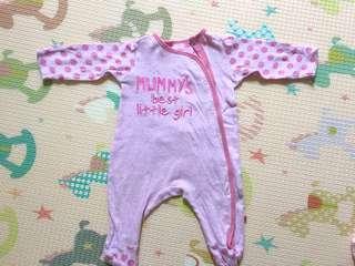 Mothercare pinky sleep suit