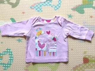 Mothercare baby pink tops