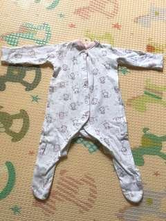 Mothercare whitey sleepsuit