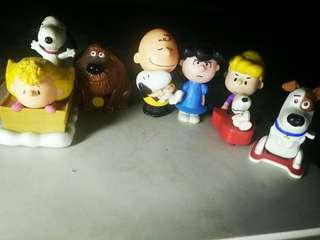 Snoopy and friends collectibles