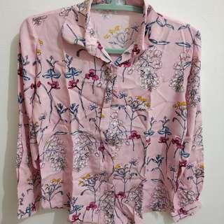 Shop At Key - Pink Floral Top