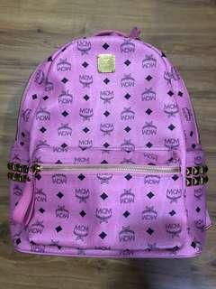 Authentic MCM Pink Backpack Large