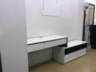Used wardrobe, side table and office table from SB furniture