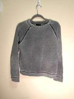topshop grey weathered sweater
