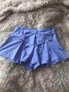 Purple high waist shorts