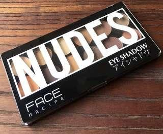 (NEW) Face recipe Eyeshadow nudes