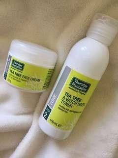 Acne ridding Toner and Face Cream