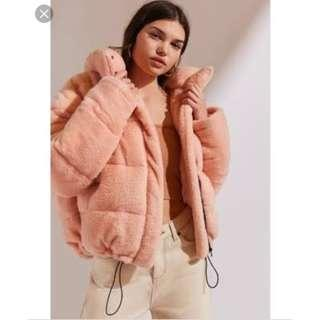 Urban outfitters Pink cozy Teddy puffer Jacket