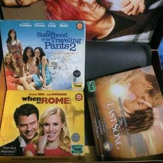 When in Rome, The Last Song, The Sisterhood of The Traveling Pants 2, Sense & Sensibility, Great Expectations, The Help (Original VCD Indonesian Subtitle)