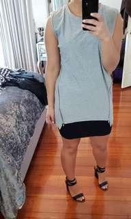 Grey zip dress