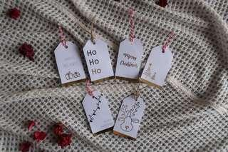 Gold Foil Christmas Gift Tags