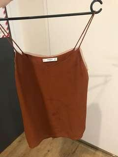 Brand new Mango brown cami top