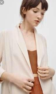 Aritzia Wilfred Chevalier Jacket in Cream (Yellow tone) Size 4