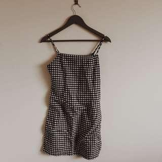 Gingham pattern dress