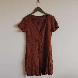 Brick colour Glassons Dress